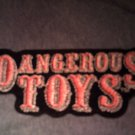 DANGEROUS TOYS iron-on PATCH classic logo VINTAGE
