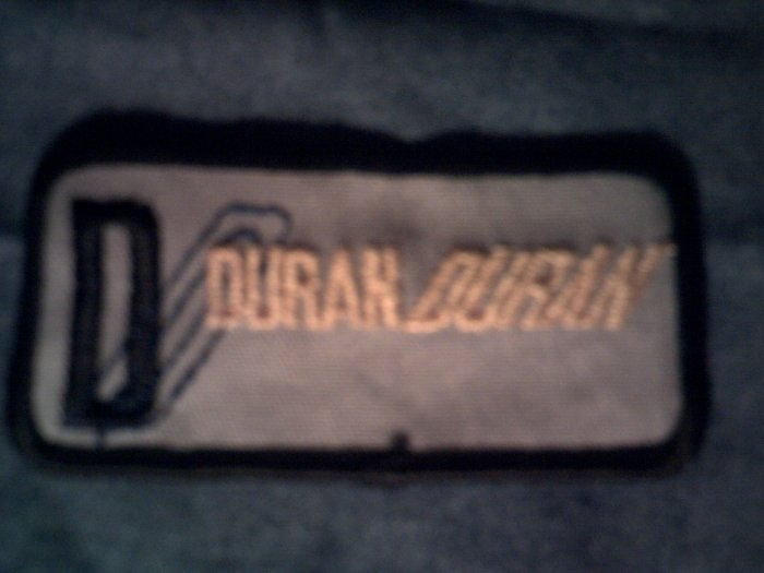 DURAN DURAN iron-on PATCH yellow logo VINTAGE