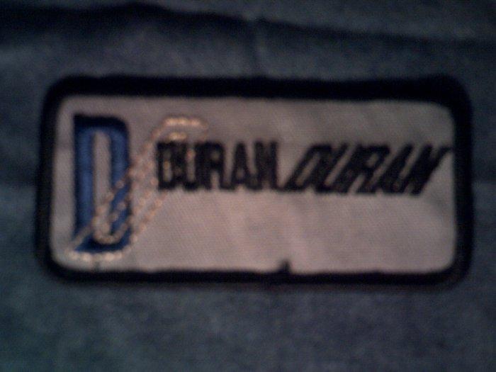 DURAN DURAN iron-on PATCH black logo VINTAGE
