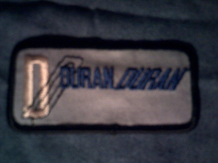 DURAN DURAN iron-on PATCH blue logo VINTAGE