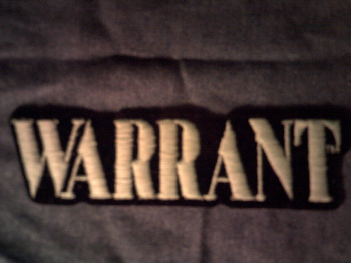 WARRANT iron-on PATCH solid green logo VINTAGE