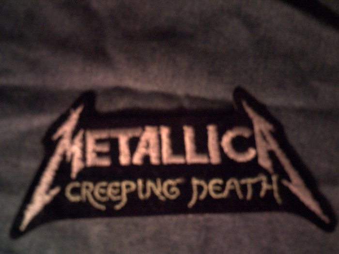 METALLICA iron-on PATCH Creeping Death silver logo VINTAGE