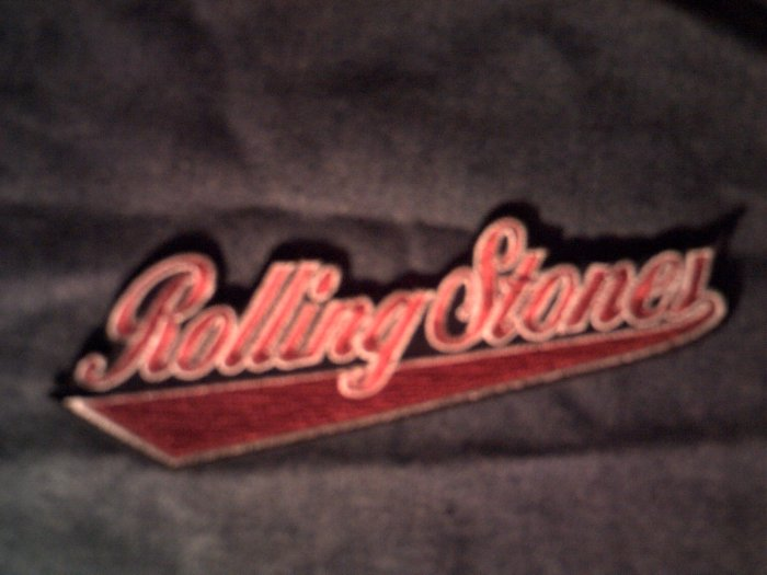 THE ROLLING STONES iron-on PATCH baseball logo NEW!