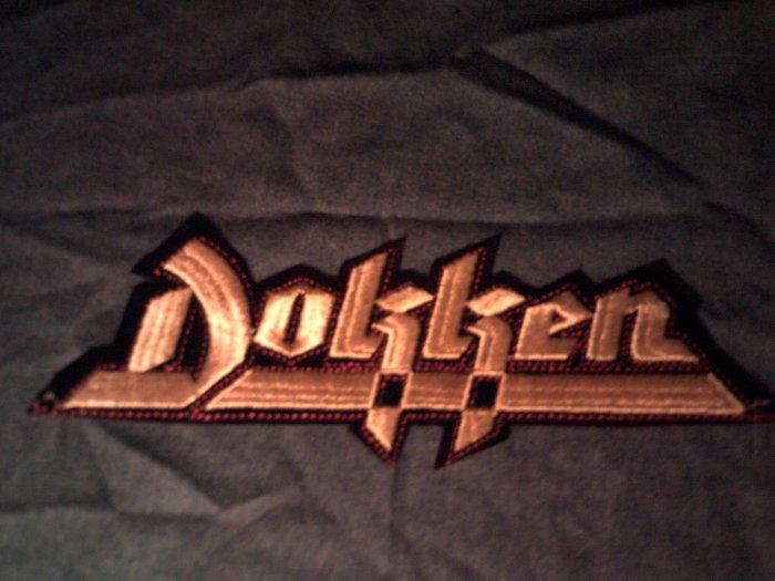 DOKKEN iron-on PATCH classic logo VINTAGE JUMBO