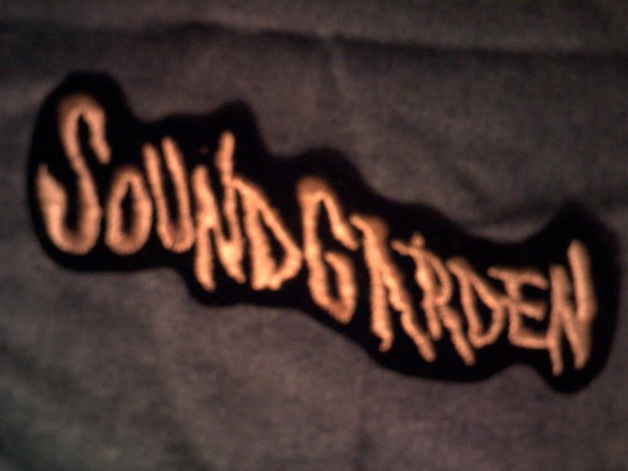 SOUNDGARDEN iron-on PATCH long logo VINTAGE