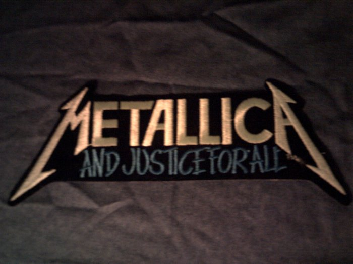 METALLICA iron-on PATCH And Justice For All VINTAGE JUMBO!