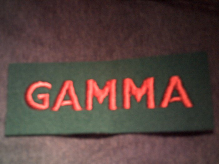 GAMMA iron-on PATCH logo Ronnie Montrose VINTAGE
