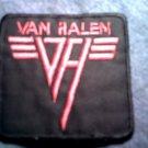 VAN HALEN iron-on PATCH red logo =vh= VINTAGE