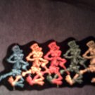 GRATEFUL DEAD iron-on PATCH dancing skeletons VINTAGE