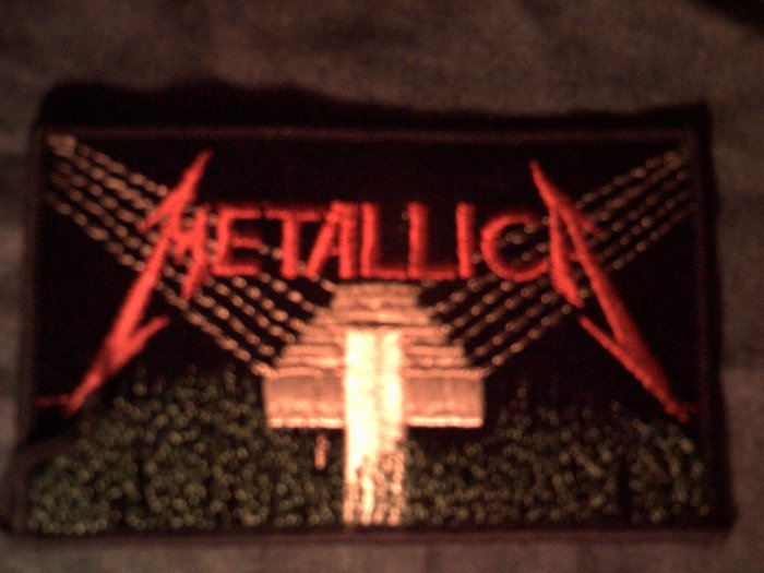 METALLICA iron-on PATCH Master of Puppets square VINTAGE
