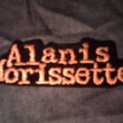 ALANIS MORISSETTE iron-on PATCH yellow logo VINTAGE