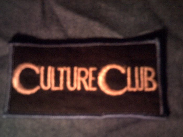 CULTURE CLUB iron-on PATCH yellow logo boy george VINTAGE 80s!