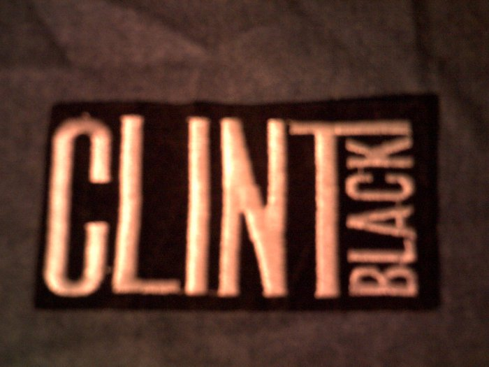CLINT BLACK iron-on PATCH logo country VINTAGE