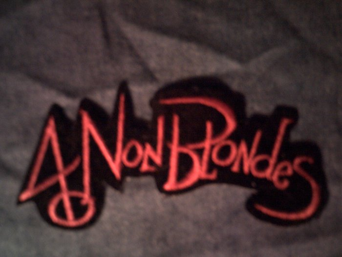 4 NON BLONDES iron-on PATCH red logo VINTAGE