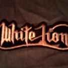WHITE LION iron-on PATCH silver logo bratta VINTAGE