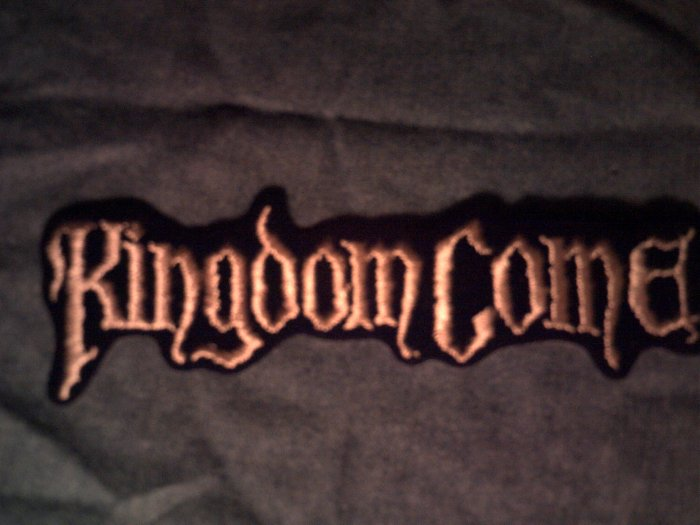 KINGDOM COME iron-on PATCH long logo VINTAGE