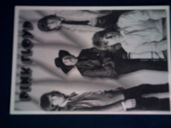 PINK FLOYD POSTCARD B&W 60s band pic IMPORT