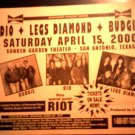 CONCERT FLYER Ronnie James Dio Legs Diamond Budgie Riot texas