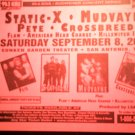 CONCERT FLYER Static-X Mudvayne Crossbreed American Head Charge texas