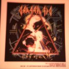 DEF LEPPARD DECAL not STICKER Hysteria VINTAGE