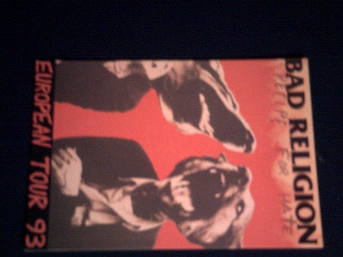 BAD RELIGION POSTCARD Recipe for Hate Tour 1993 IMPORT