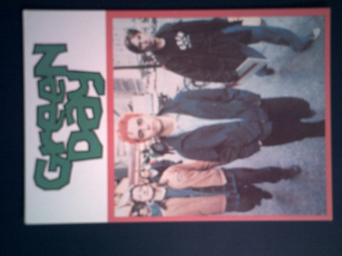GREEN DAY POSTCARD color band pic IMPORT