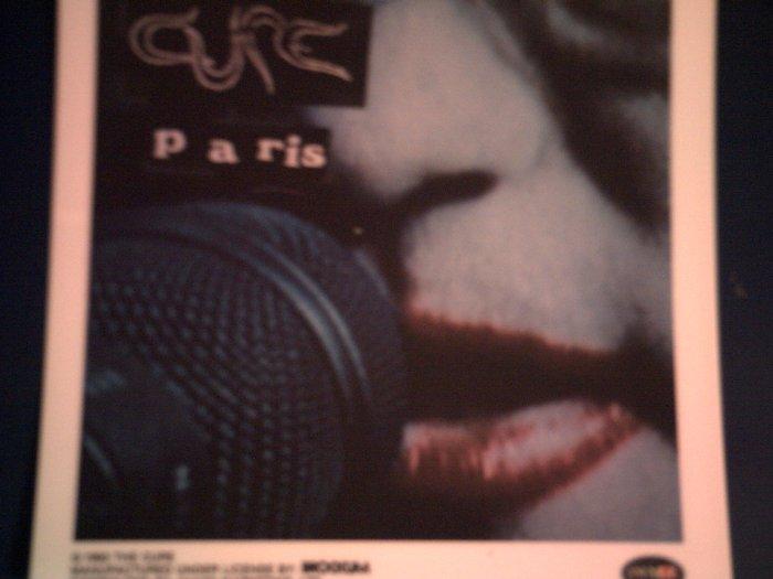 THE CURE DECAL not STICKER Paris album art smith VINTAGE