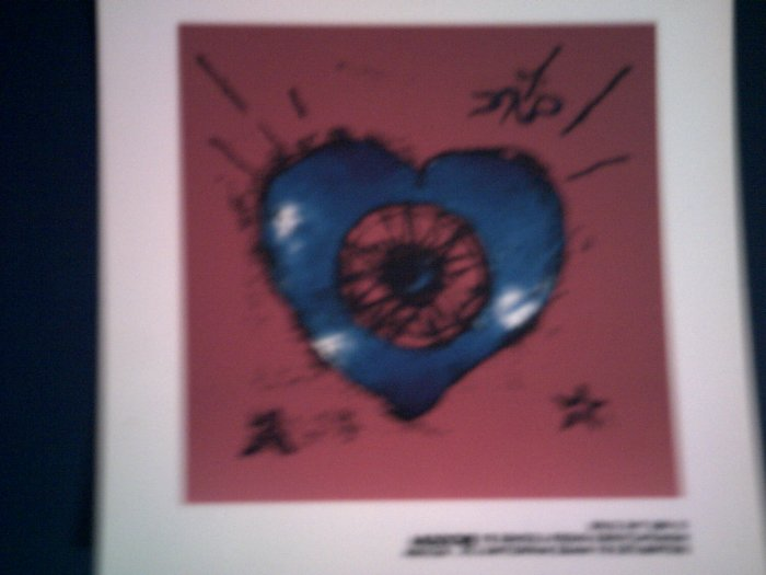 THE CURE DECAL not STICKER Friday I'm in Love art heart smith VINTAGE