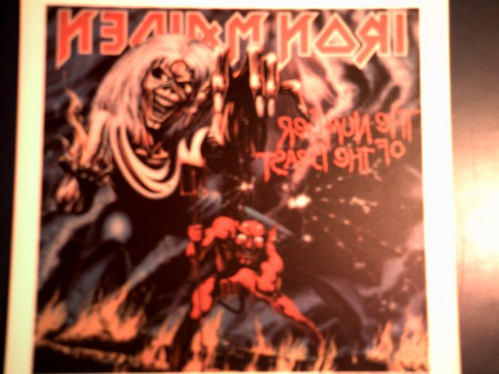 IRON MAIDEN DECAL not STICKER Number of the Beast VINTAGE