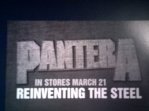 PANTERA POSTCARD Reinventing the Steel PROMO