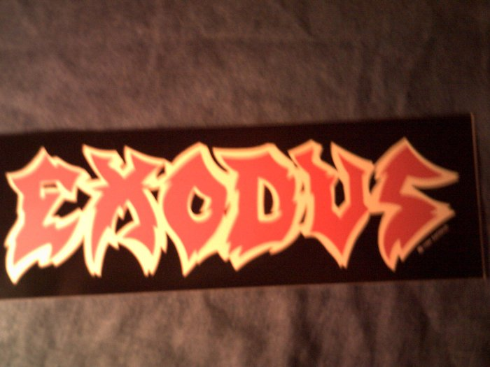 EXODUS STICKER red/yellow logo thrash VINTAGE