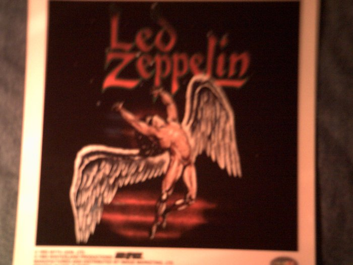 LED ZEPPELIN DECAL not STICKER swan song art VINTAGE
