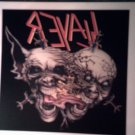 SLAYER DECAL not STICKER demon heads VINTAGE