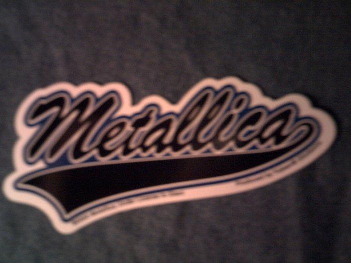 METALLICA STICKER baseball logo NEW!