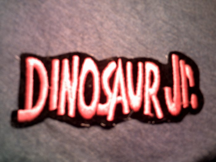 DINOSAUR JR iron-on PATCH pink logo VINTAGE
