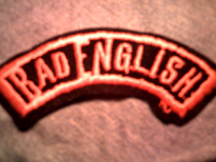BAD ENGLISH iron-on PATCH logo VINTAGE 80s