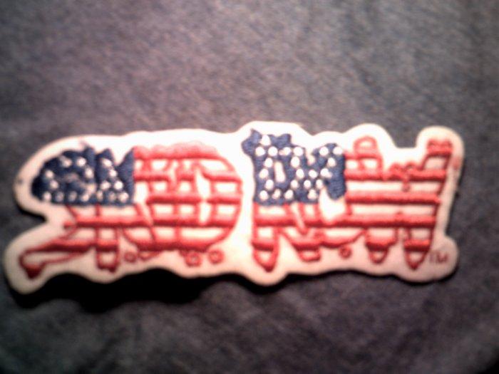 SKID ROW iron-on PATCH USA logo VINTAGE 80s