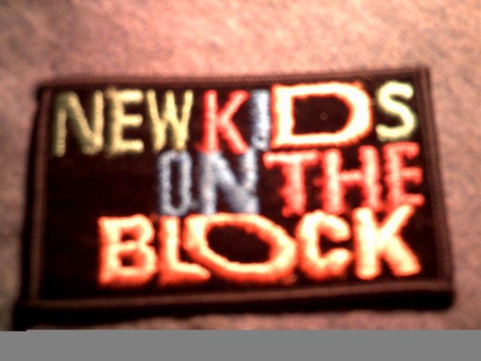NEW KIDS ON THE BLOCK iron-on PATCH nkotb logo VINTAGE 80s