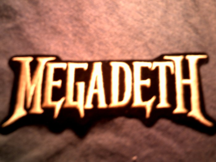 MEGADETH iron-on PATCH gold logo NEW!