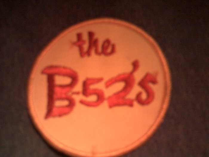 B-52'S iron-on PATCH round logo b52s VINTAGE 80s