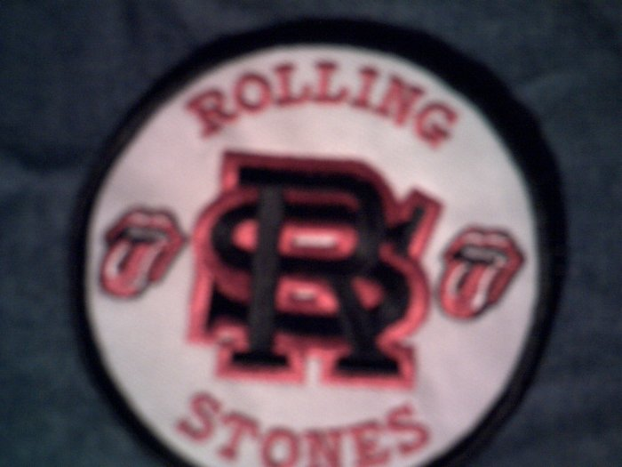 THE ROLLING STONES iron-on round logo NEW SALE