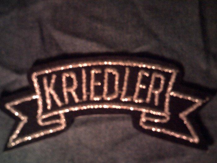 KRIEDLER iron-on PATCH silver logo VINTAGE 70s!