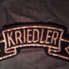 KRIEDLER iron-on PATCH silver logo VINTAGE 70s!