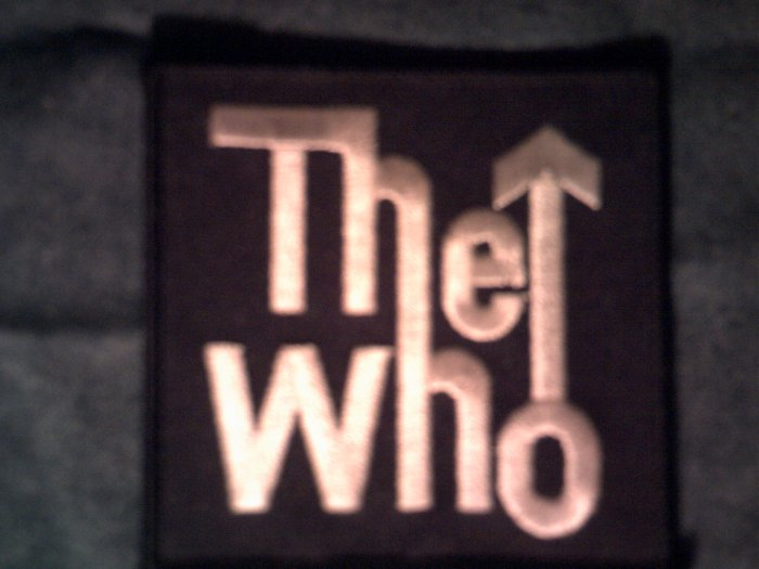 THE WHO iron-on PATCH classic logo square VINTAGE