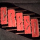 CREED iron-on PATCH slant logo HTF