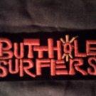 BUTTHOLE SURFERS iron-on PATCH orange logo VINTAGE
