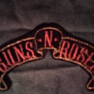GUNS N ROSES iron-on PATCH banner logo slash axl