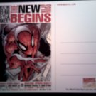 SPIDER-MAN POSTCARD New Spin Begins spiderman PROMO