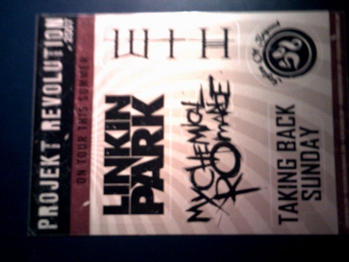 STICKER SET Linkin Park H.I.M. My Chemical Romance Taking Back Sunday Styles of Beyond him PROMO