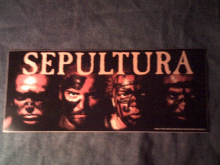 SEPULTURA STICKER tribal band faces BIG!